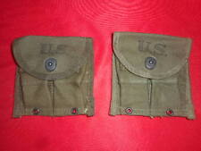 U.S.ARMY:1945 WWII -2 (two) SEPARATE POUCHES, MAGAZINE,DOUBLE,WEB,CARABINE,WW2