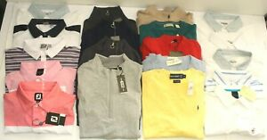 Lot of 55 NEW Men's Polos Sweatshirts Polo Ping Dunning Fairway/Greene Blemished
