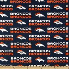 "NFL DENVER BRONCOS FOOTBALL CURTAIN SET  56"" WIDE X 63""LONG"