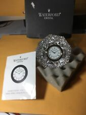 Waterford crystal lismore classic diamond desk clock retails $125 BOX INCLUDED