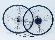 26 INCH BIKE WHEELS QUICK RELEASE 8 SPEED SHIMANO CASSETTE  COLOUR SPOKES NEW
