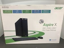 Acer AXC-704G-UW61 Mini Tower Desktop Windows 10 Brand New Sealed