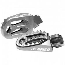 New Apico Pro Bite Wide Foot Pegs CR CRF 125 150 250 450 R X 02-16 Titanium