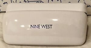 New Nine West Eyeglass White Sunglass Case Clamshell Glasses Hard Sunglasses NW