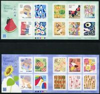 Japan 2015 Tag des Briefeschreibens Letterwriting Day Markenhefte Booklets MNH