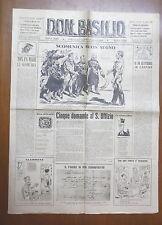 DON BASILIO 24 Luglio 1949 Scomuniche Saragat Jansens Abate Galiani De Gasperi