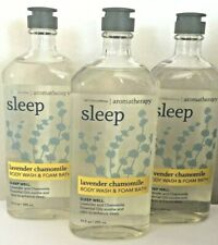 3x Bath Body Works Aromatherapy Sleep Lavender Chamomile Body Wash Foam Bath