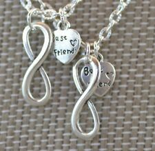 NI005-2 Two Best Friend Infinity Necklaces, Eternity, Sisters, BFF, Friends