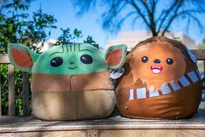 20inch Chewbacca AND Baby Yoda - Star Wars Mandalorian Squishmallows NWT