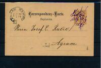 ÖSTERREICH 1890 2Kr, Korr-Karte MIT HANDSCHRIFTLICHER ENTWERTUNG NACH UNGARN!