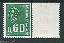 FRANCE 1974 timbre 1815b, TROPICALE, ROULETTE avec 3 N° ROUGE, BEQUET, neuf**