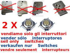 2x tasti ricambio switch cover guscio RENAULT Laguna Megane G. Espace SMART CARD