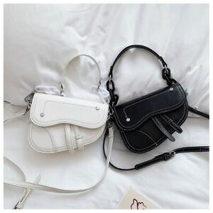 Chain Saddle Bag Shoulder Handbag Double Strap Messenger