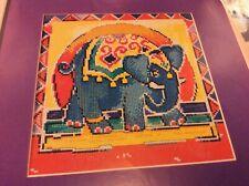 Jewel of India - Batik Elephant Design cross stitch chart only / 1079