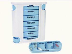 2x 7 Tage Pillendose -Tablettenbox -Pillenbox - Tablettendose - Tabletten Pillen