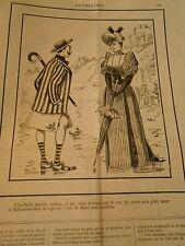 Caricature 1892 - A la Mer Vicomte Le chic de sortir sans gilet sans culottes
