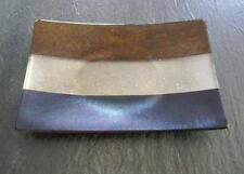 "KURT McVAY FUSED ART GLASS RECTANGULAR PLATTER Tray Plate Dichroic Iridescent 9"""