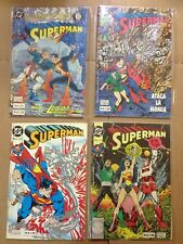 DC Comics Superman Comic Spanish, In Color, Lot Of 4 (90's)