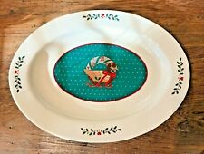 VINTAGE? SPECIAL GIFTS BY CROWNING TOUCH JAPAN OVAL PLATTER CHRISTMAS GOOSE EUC