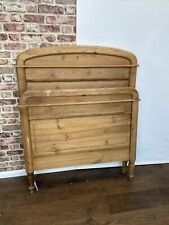 More details for pine single bedstead antique head and foot only stunning pieces - (7962)