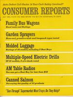 July  1966 Consumer Reports Magazine,  Luggage , Radios , Salmon, Drills