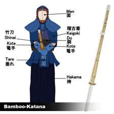 120cm Japanese Kendo Shinai Bamboo Practice Training Stick Sword Bushido Katana
