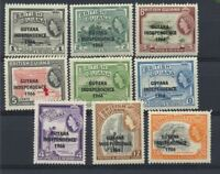 GUYANA Old Time Collection 9 Different Mint NH Stamps from 1966 with overprints