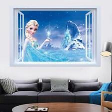 FROZEN-ELSA-3D-Window-View-Decal-Wall-Sticker-Home-Decor-Art-Mural-Disney-Kids