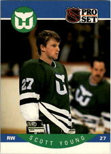 1990-91 PRO SET HOCKEY SCOTT YOUNG CARD #113 HARTFORD WHALERS NMT/MT-MINT
