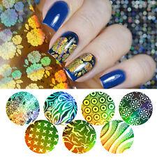 16Pcs Gold Starry Nail Foils Manicure Nail Art Flower Star Transfer Stickers DIY