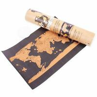 Travel Scratch Map - Scratch Off Poster Personalized Travel Vacation Atlas
