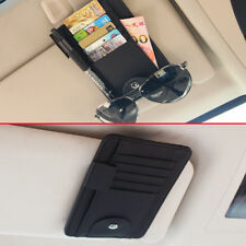 Leather Pen Credit Card Glasses Case Car Inner Sun Visor Storage Wallet Holder