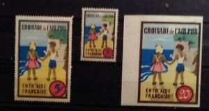 Cinderella Charity Poster Stamp France Crusade for Clean Air Set of 3 -R