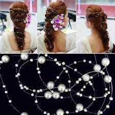 6pcs DIY String Pearl Bridal Hair Clip Hairpin Wedding Accessories Barrette NEW
