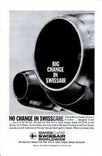 Vintage print ad 1959 Swisscare Swissair airlines Jet engine Big Change No Chang