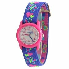 Timex Kids Girl's T89001 Hearts & Butterflies Blue Analog Watch