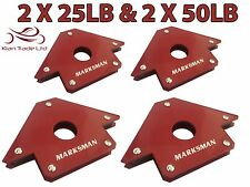 2 X 25LB +2 X 50LB MAGNET MAGNETIC SOLDERING ARROW WELDING 3 ANGLES CLAMP HOLDER