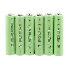 Set of 8pcs NI-MH AAA 600mAh 1.2V 3A Rechargeable Battery NI-MH Batteries -Green