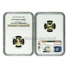 USA 2014W Eagle $5 1/10 oz Gold NGC PF69 ULTRA CAMEO SKU#6374