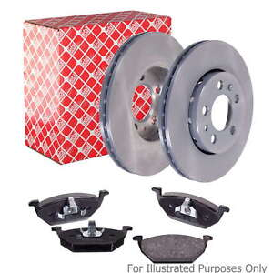 Fits BMW 3 Series E46 318d Genuine Febi Front Vented Brake Disc & Pad Kit