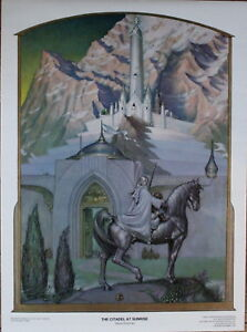 The Citadel At Sunrise 1976 Steve Hickman Lord Of The Rings Print 3