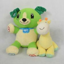LeapFrog My Pal Scout Child of Mine Giraffe Stuffed Plush Toy Set of 2 Used