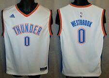 Oklahoma City Thunder Russell Westbrook Adidas White Home Jersey - Boys XL