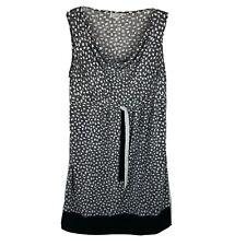 Motherhood Maternity Dress ~ Sz L ~ Black & White ~ Sleeveless ~ Knee Length