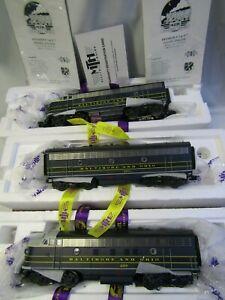 MTH 20-20605-1,20606-1,20606-3 BALTIMORE & OHIO F-7 A-B-A  PS 3.0 O GA 3 RAIL