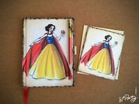 2011 Disney Designer Princess SNOW WHITE Journal & Note Card Steve Thompson Art