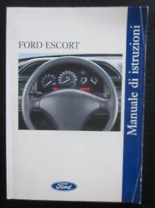 FORD Escort 1.3-1.4-1.6-1.8-XR3i - RS 2000 - 4x4 MK5 uso manutenzione istruzioni