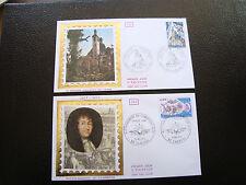 FRANCE - 2 enveloppes 1er jour 1977 (inst catho/ratt du cambresis) (cy39)french