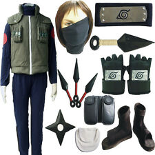 Naruto Hatake Kakashi Deluxe Cosplay Costume Mens Ninja Full Set Props Shoes
