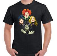 SANDERSON SISTERS T-Shirt Halloween Mens HOCUS POCUS Rhapsody Top Retro Movie
